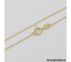 925 Sterling Silver Chain, Plating 14k Yellow Gold