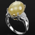 14.45ct. Genuine AAA Yellow Sapphire & Cz 925 Silver Ring.