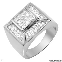 Stunning Brand New Gentlemens Ring With 9.90ctw Cubic zirconia Beautifully Designed in 925 Sterling silver.